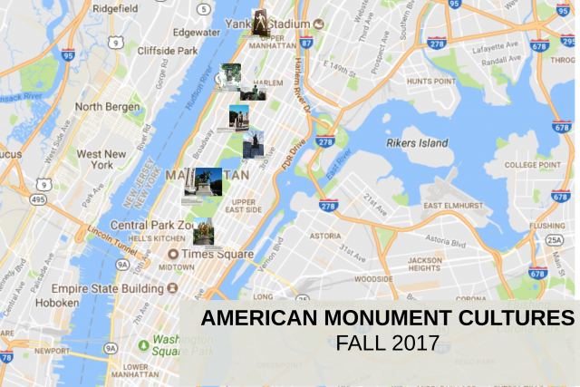 Interactive map with monuments